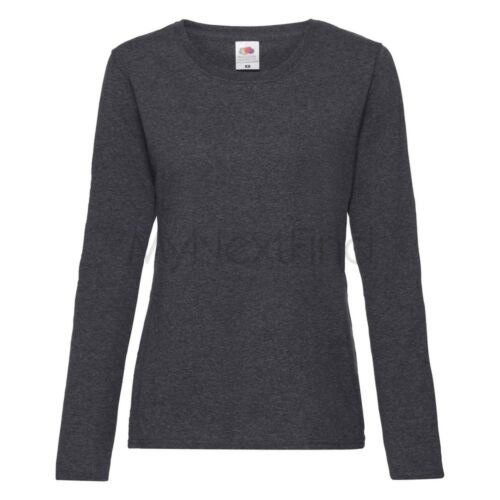 Fruit of the Loom Femmes Lady-Fit Valueweight T-shirt à manches longues