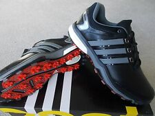 Scarpe da Uomo Adidas Golf Scarpe Da Ginnastica Stile Adipower Boost WD ampia Nero UK7 EU40 2/3