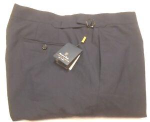 Massimo-Dutti-Cotton-Blend-Navy-Blue-Dress-Pants-NWT-145-38-x-34