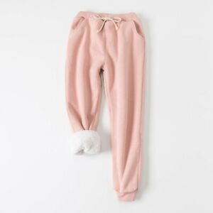 super cheap Super discount classic style of 2019 Details about Womens Sweat Pants Sherpa Lined Fleece Lining Joggers Jogging  Trousers Warm
