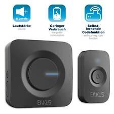 EAXUS? Funk-Türklingel LED Gong Klingel Empf?nger 200m Reichweite IP45 Batterie