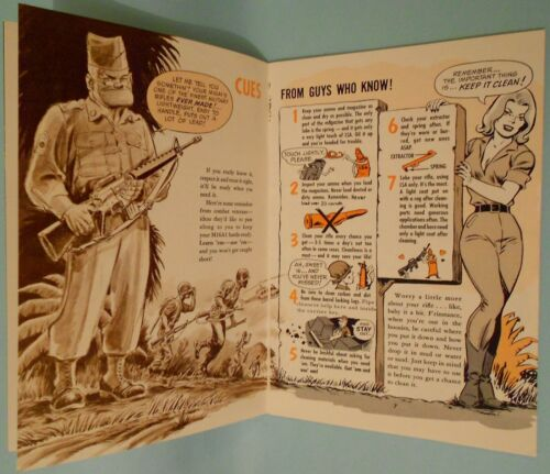 manual gun parts comic army Vietnam War M16 rifle gun Manual part Military gun