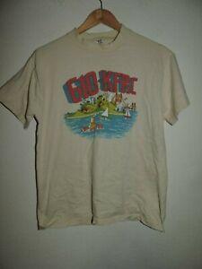 Vintage-KFRC-Oldies-610-AM-99-7-FM-Radio-Station-Graphic-Single-Stitch-T-Shirt
