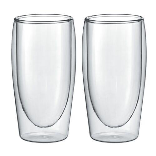 2 x ORIGINAL doppelwandig Thermo Glas 35cl Latte Macchiato