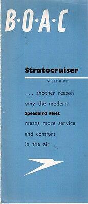 BOAC STRATOCRUISER SALES BROCHURE WITH CUTAWAY 1949 B.O.A.C. BOEING