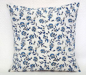 Indian-Hand-Block-Print-Cotton-Cushion-Cover-Floral-Pillow-Case-16-034-Cushion-Case