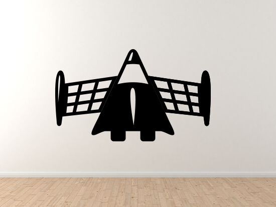Space Icon-  Shuttle Space Plane Toon Extraterrestrial - Vinyl Wand Decal
