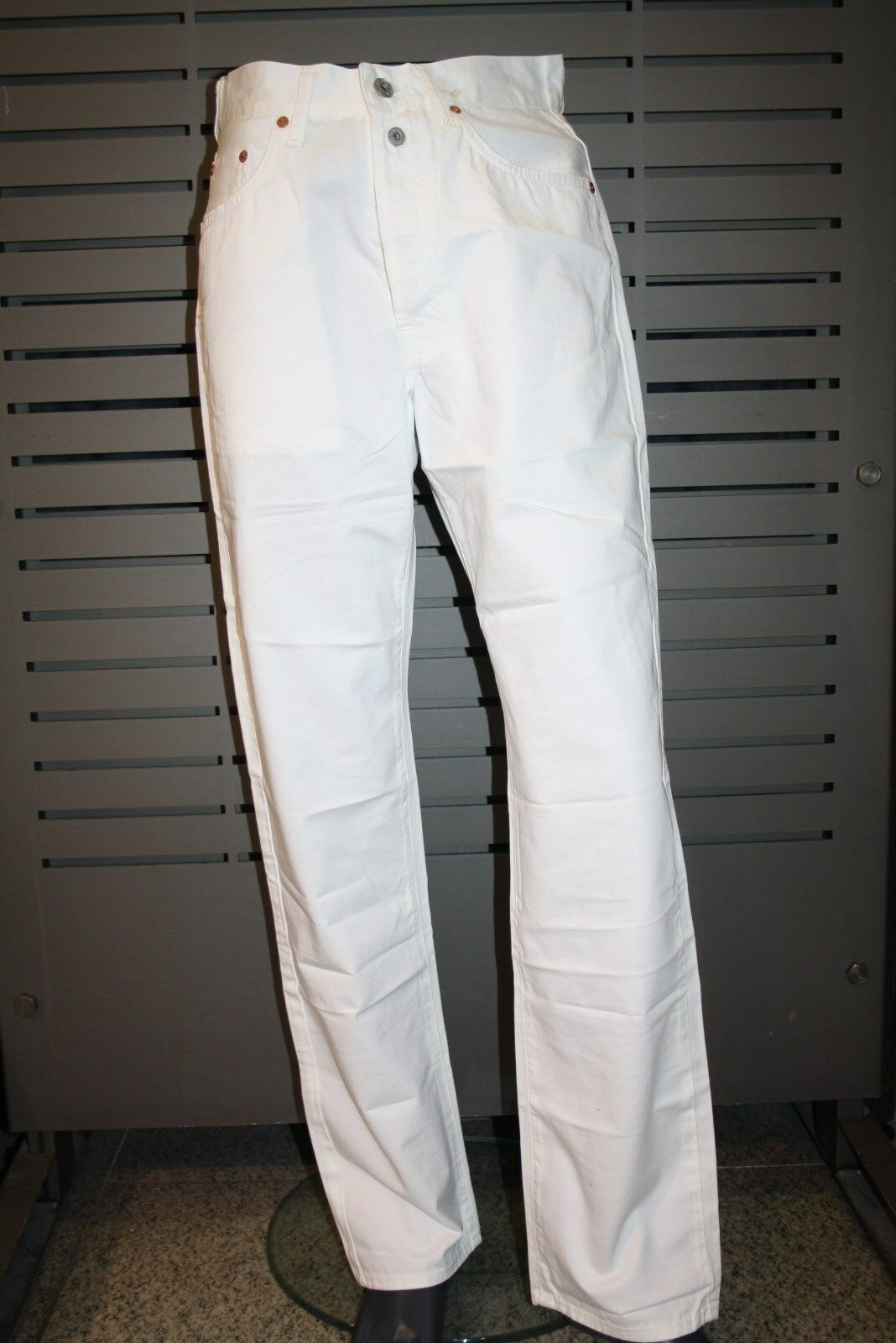 Replay Jeans M901 white weiss 100% Baumwolle Workwear Jeans Straight