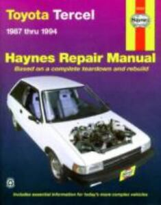 Haynes manuals toyota tercel 1987 1994 by john haynes 1995 stock photo solutioingenieria Image collections