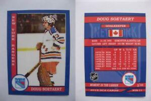2015 SCA Doug Soetaert New York Rangers goalie never issued produced #d/10