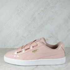 Womens Puma Basket Heart Patent Pink/White Trainers (PFP1) RRP £79.99