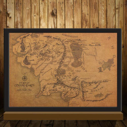 TIE LER Vintage Middle Earth Map On Poster Home Decor Wall Sticker 51x35.5c/_JKU