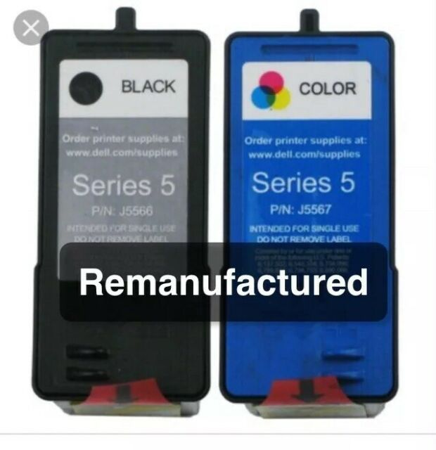 2x REM Dell Series 5 Cartridges Black +Colour for 946/944/964/962/942/922/924