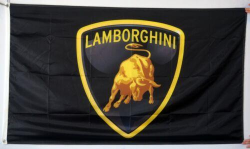 Lamborghini Flag Banner 3x5 ft Black Banner