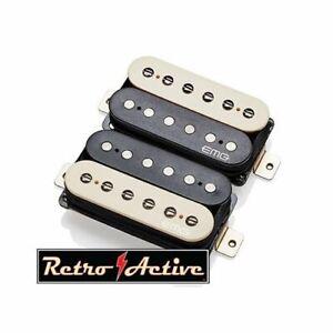 EMG-Super-77-Retro-Active-Electric-Guitar-Humbucker-Pickup-Set-Zebra-5965-00