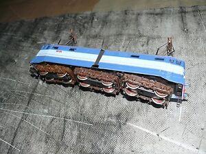 rivarossi-E-646-035-treno-azzurro-LOCOMOTORE-made-in-Italy-H0