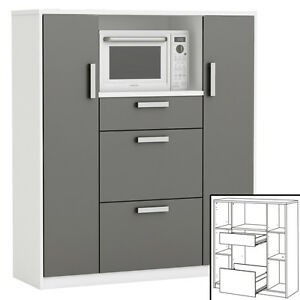 Küchenschrank 8540 Schrank Küchenregal Küchenmöbel Mikrowelle ...