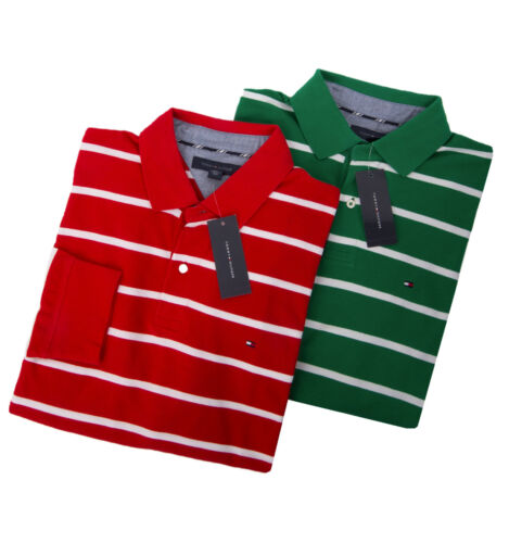 $0 Free Ship Tommy Hilfiger Men Classic Fit Mens Stripe Polo Rugby