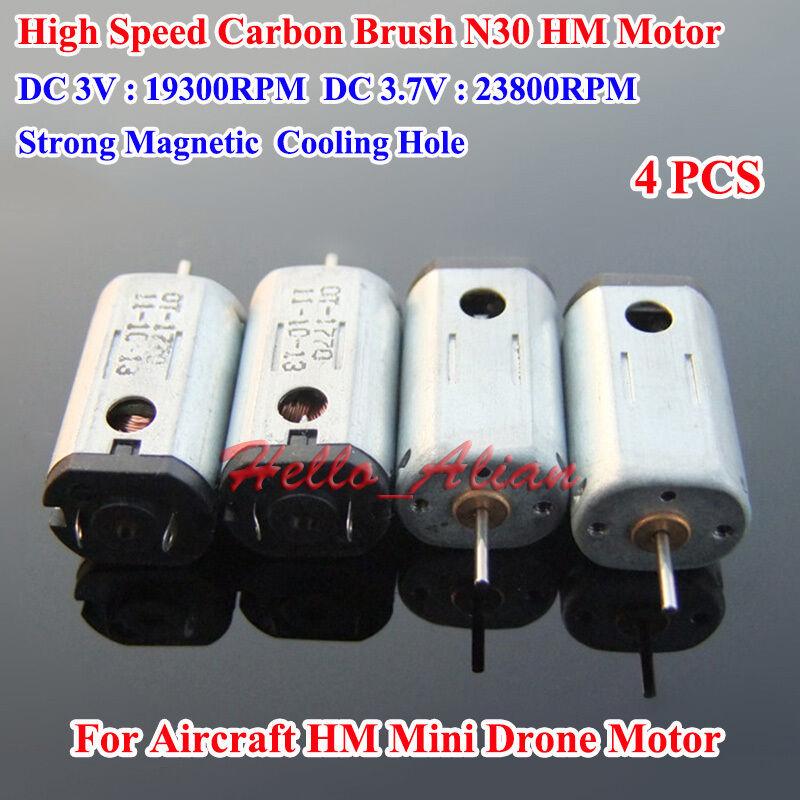 2PCS DC 5V 6V 33000RPM High Speed Strong Magnet Mini N30 Motor for Helicopter