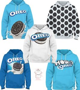 f0802afeab69 Oreo Blue USA Milk Cookie Chocolate Nutella New Top 3D Hoodie ...