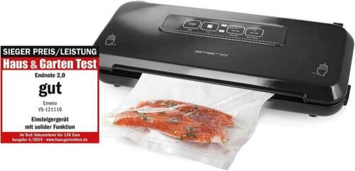 Folienschweißgerät schwarz Vakuumierer Vakumiergerät vacuum food sealer
