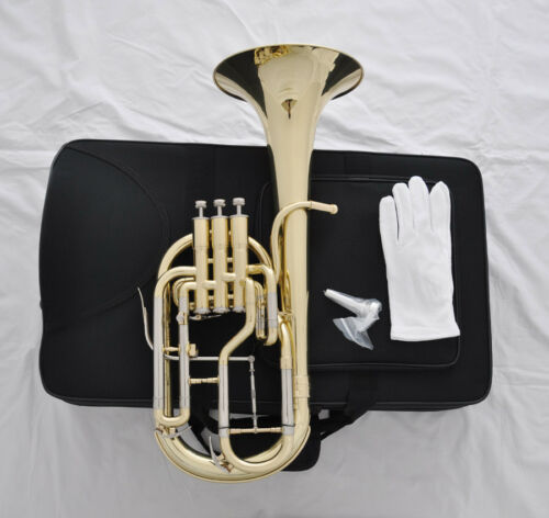 High Quality Piston Eb Gold lacquer Trigger Alto Horn with Case Mouthpiece