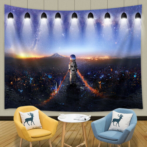 "Astronauts and Alien Plants Shower Curtain Bathroom Decor Fabric /& 12hook 71X71/"""