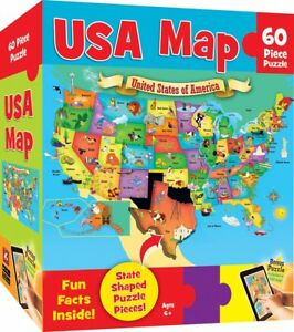 Us Map Game For Kids.Children Educational Usa Map 60 Pieces Kids Puzzle Toy Christmas