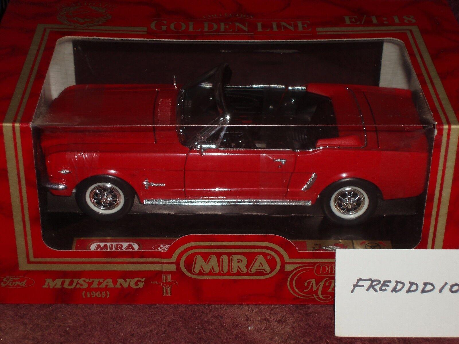 comprar ahora Mira Solido 1964 1 2 Ford Mustang Converdeible Rojo Rojo Rojo Negro 1 18  Entrega gratuita y rápida disponible.