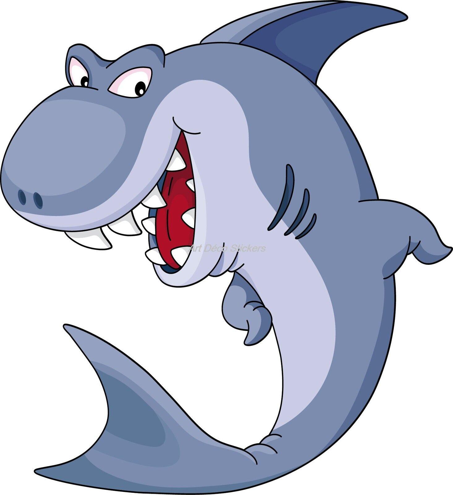 Aufkleber Kind Shark Ref 917 (Abmessungen der 10 cm 130 cm Höhe)