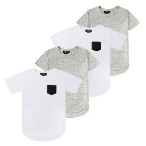 purchase cheap Official Website many choices of Details about 4 Pack Lot Bulk Mix Men's Plain Hip Hop Long Line T-Shirts  Crewneck Pocket Tees