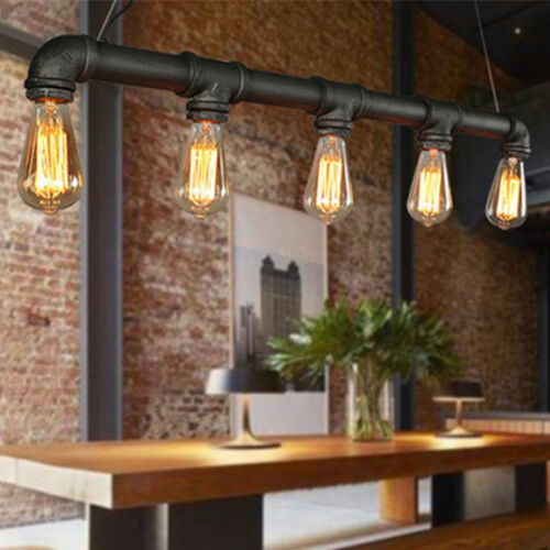 Water Pipe Pendant Light Industrial Vintage Lamp Ceiling E27 Shop Home Decor USA