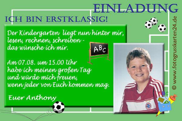 Einschulung Einladungskarten Schulanfang Einladungen Schule  10 x Foto  KuGrüns   | Fierce Kaufen  | Ideales Geschenk für alle Gelegenheiten