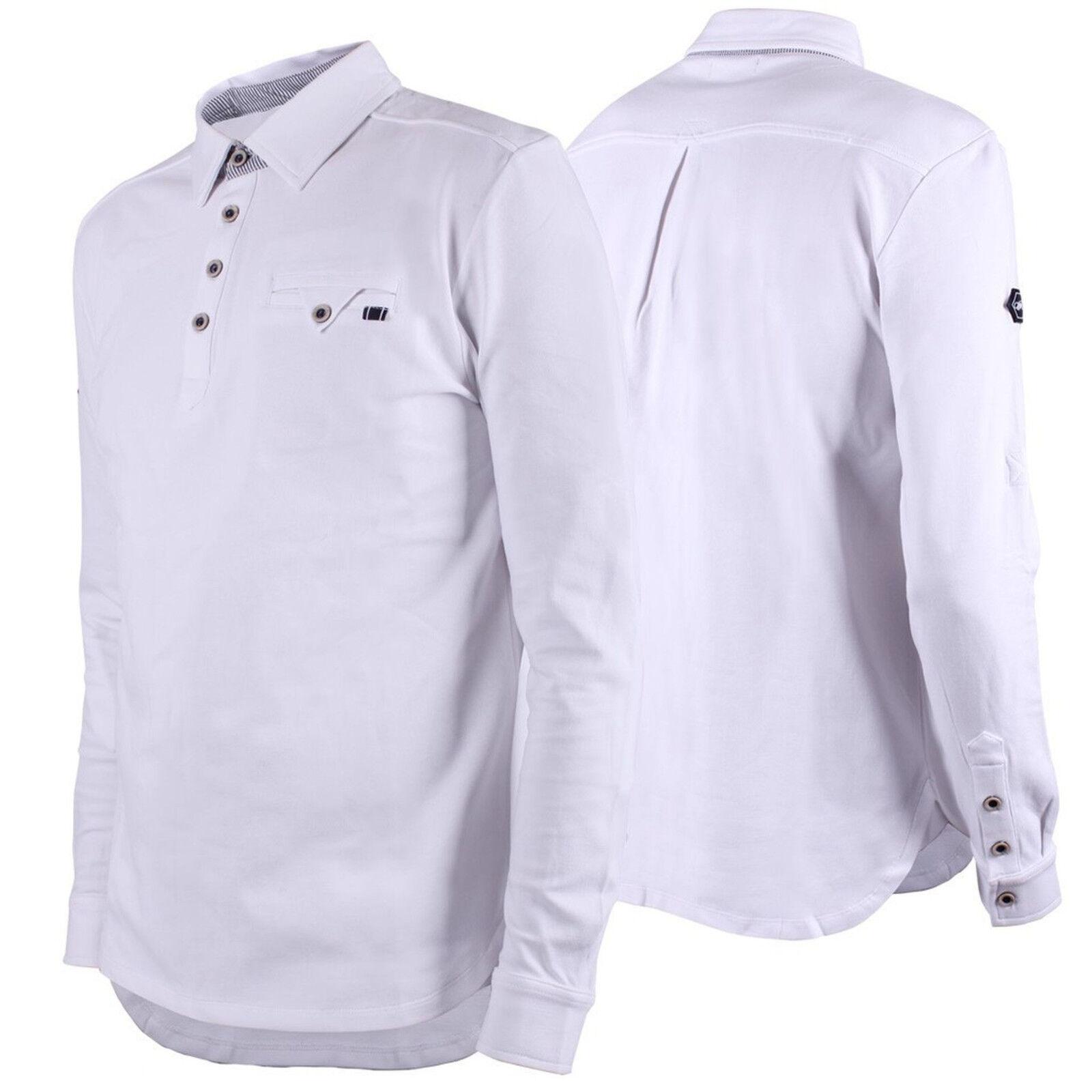 Qhp Uomo torneo Shirt Ralph Bianco Bianco Bianco Collo Manica Lunga Tg 46 - 52 | Ordini Sono Benvenuti  | Apparenza Estetica  899f12