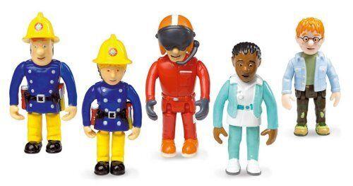 Set di 5 pupazzetti articolati Born to Play FS022 T0i Sam il pompiere