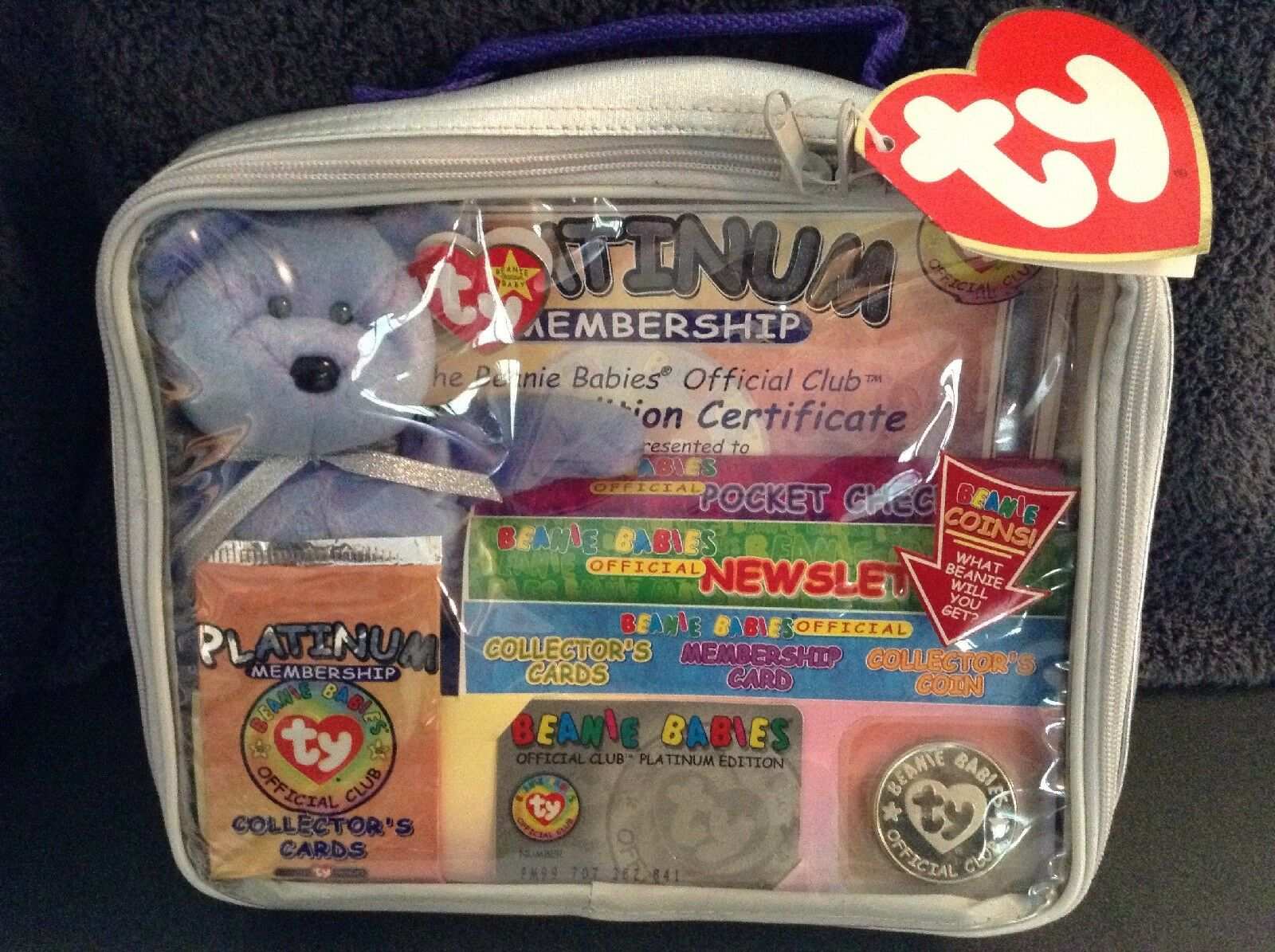 NEW Ty Beanie Baby PLATINUM OFFICIAL Club Membership Kit - Retired SEALED