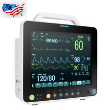 Multi Parameter 12 Inch Vital Sign Patient Monitor Ecg Nibp Resp Temp Spo2 Pr