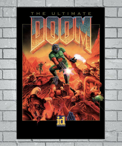 E207 Art Ultimate DOOM Vintage Video Game 18 24x36inch Poster New Gift