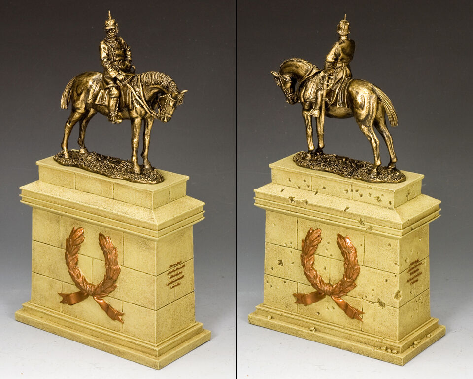 King & Country Kaiser Wilhelm II on Large Equestrian Statue Plinth SP084-SA