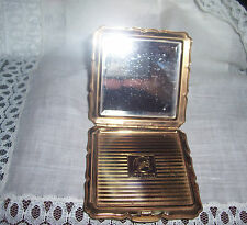 PRETTY VINTAGE STRATTON MADE IN ENGLAND COMPACT WITH BEVELED MIRROR