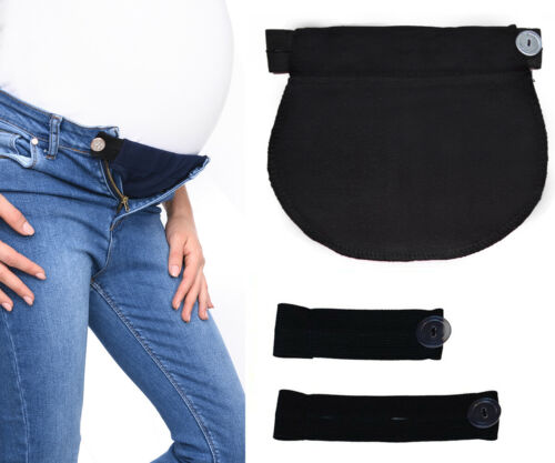 Maternity Pregnancy waistband ADJUSTABLE elastic waist extender Mija Set of 3