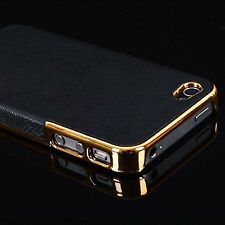 Frame Luxury Hard Back Case Cover for iPhone 5 5s Gold