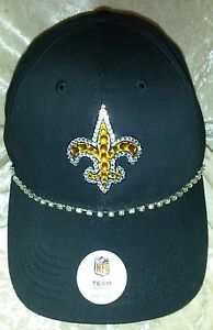 a6805f444 Image is loading New-Orleans-Saints-Women-039-s-Rhinestone-Bling-