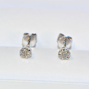 Diamant-Ohrstecker-0-17-ct-in-750er-Weissgold-18K-Pave-Ohrringe-Illusion