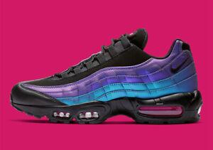 Details about Nike Air Max 95 PRM THROWBACK FUTURE LASER FUCHSIA PURPLE BLACK 538416 021 Men's
