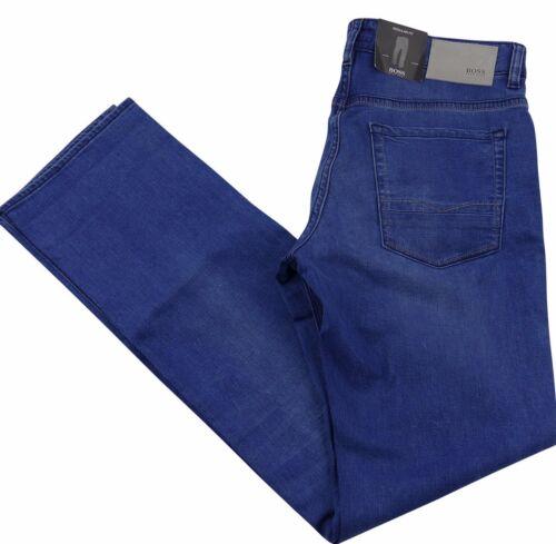 Jeans DA UOMO HUGO BOSS MAINE REGULAR FIT Misto cotone blu nuova con etichetta W34 x L34