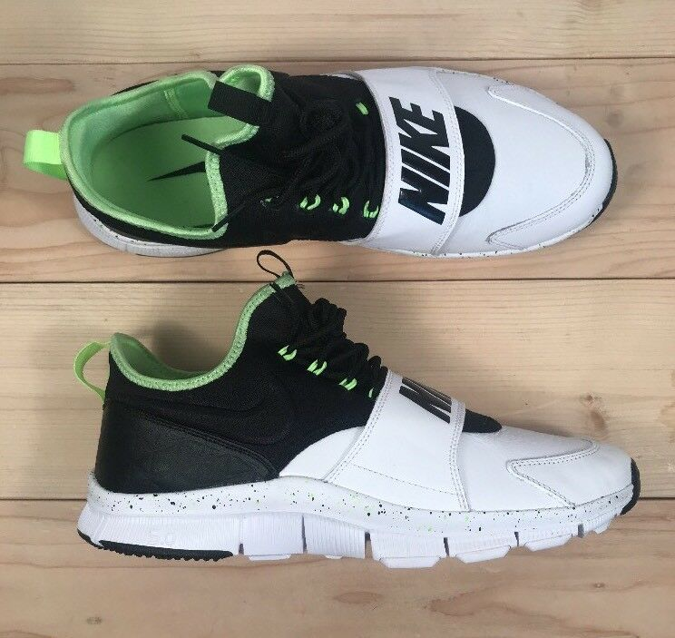 Nike Free Ace Leather Trainer Mens Shoe 749627-100 Size 12 White/Ghost Green/BLK 749627-100 Shoe a62a5a