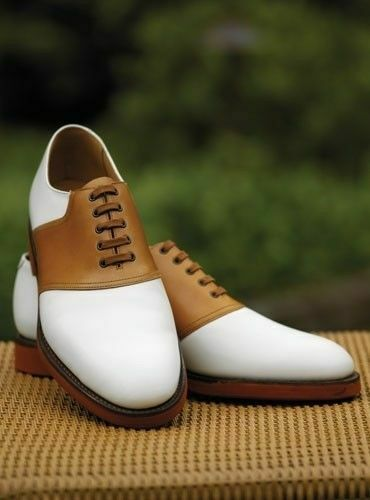 Mens Handmade shoes Tan & White Tuxedo Classic Formal Dress Casual Wear Boot New