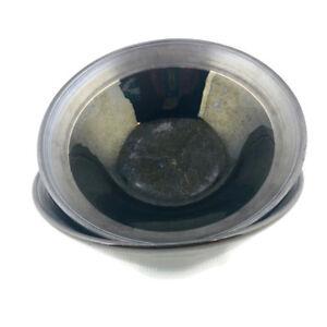 "SANGO BISTRO BLACK 4807 Soup Cereal 7.75"" Stoneware Bowl Set of 2"