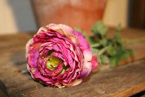 Pretty Purple Ranunculus Individual Artificial Luxury Silk Flowers Ebay